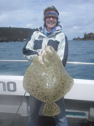 A monster turbot of 18lb